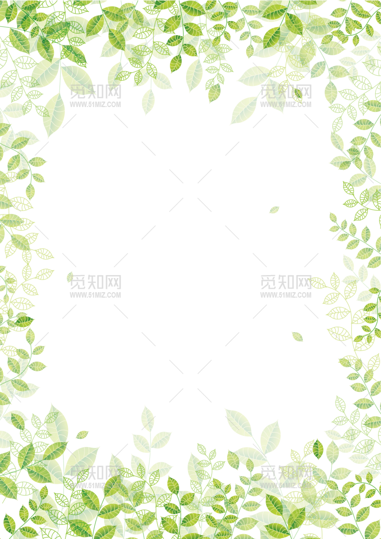 word背景淡绿色信纸模板
