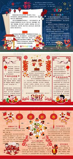 欢乐中国年春节习俗手抄报