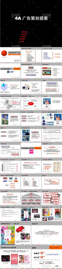 广告传媒成功案例ppt模板