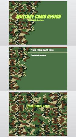 军绿迷彩背景PPT模板