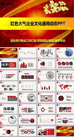 红色企业文化公司宣传简介产品宣传PPT