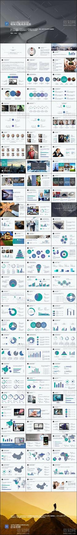 清新自然欧美风商业融资计划书PPT模板