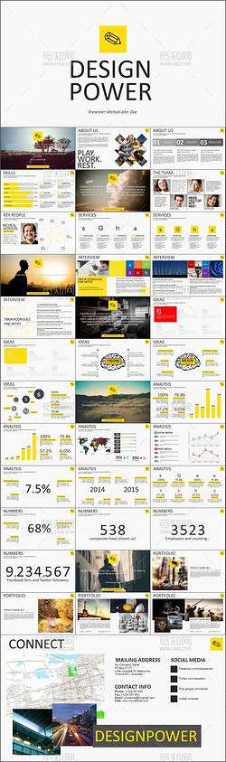 创意平面设计广告商务通用PPT模板