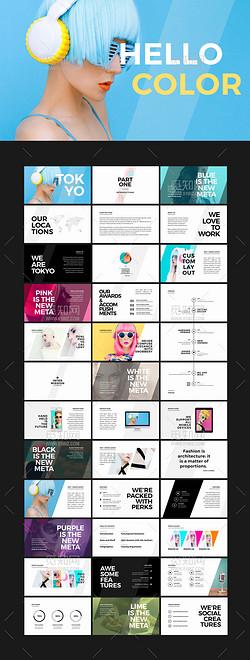 欧美时尚大气营销活动策划公司产品介绍Keynote模板