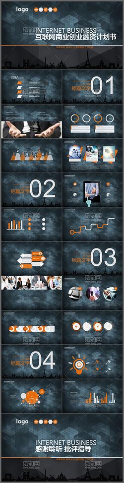 黑色创意互联网商业创业融资计划书商务PPT模板