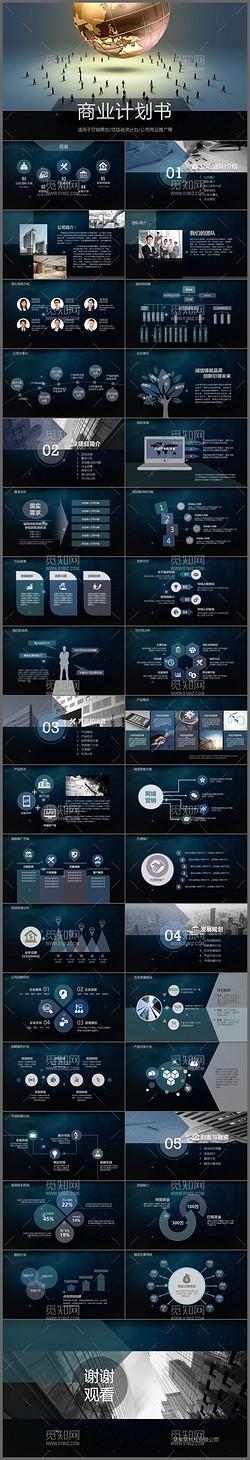 科技星空炫酷创意商业计划书ppt模板