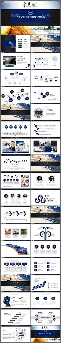 框架完整的大气公司介绍企业宣传团队介绍动态PPT模板