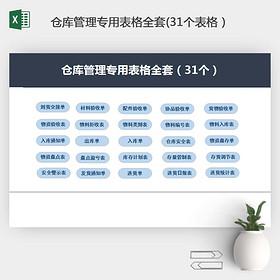 倉庫管理專用表格全套管理表格