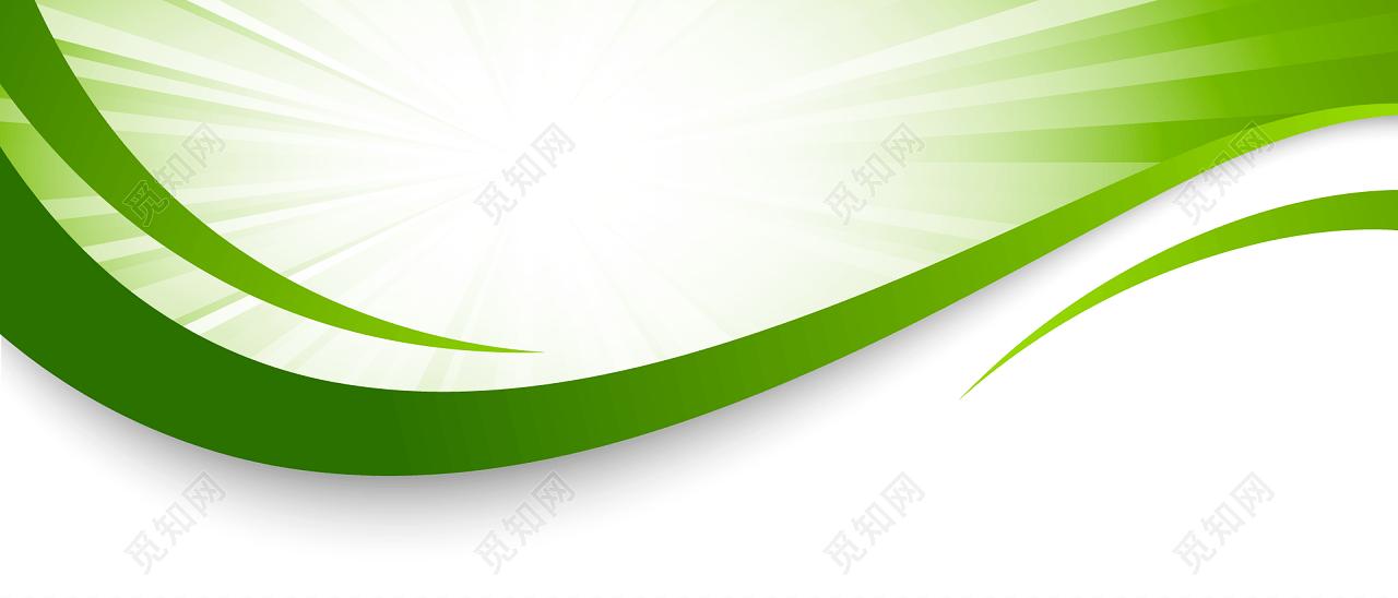 绿色自由线条banner素材