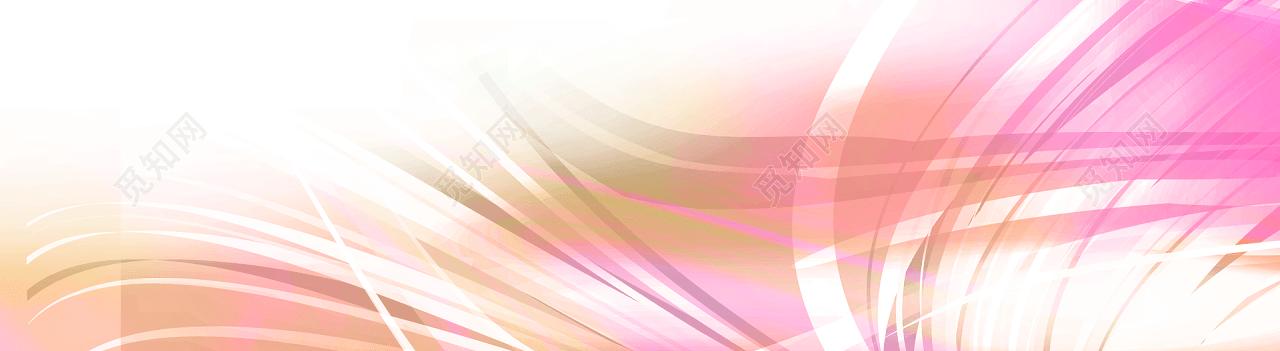 自由线条清新banner背景素材