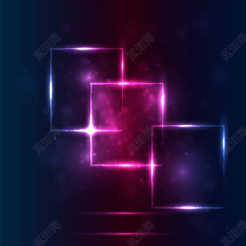 紫色炫酷光效边框背景
