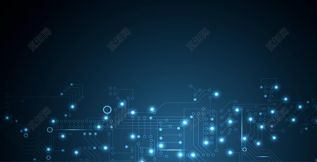 蓝色电路芯片高科技商务会议背景免费下载_背景素材