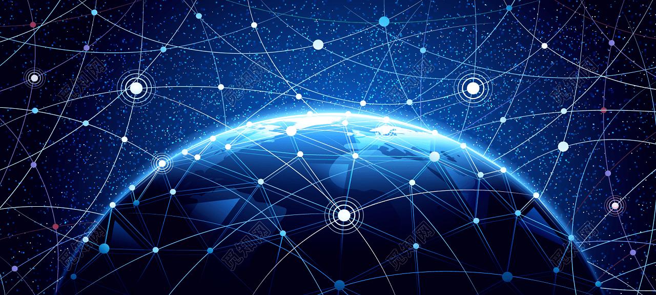 点线科技地球形背景免费下载_背景素材_觅知网