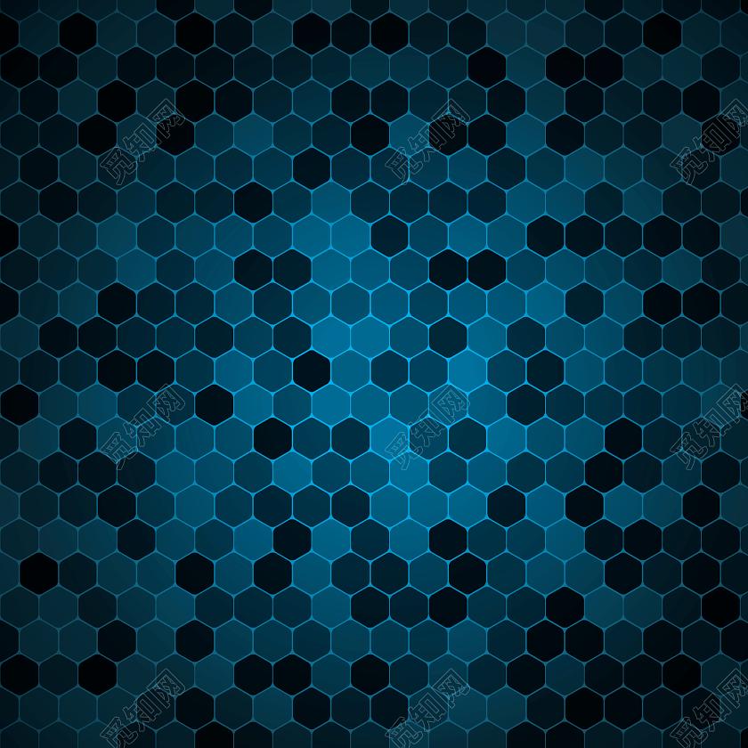 格子多边形拼接蓝色科技蜂窝背景图免费下载_背景素材