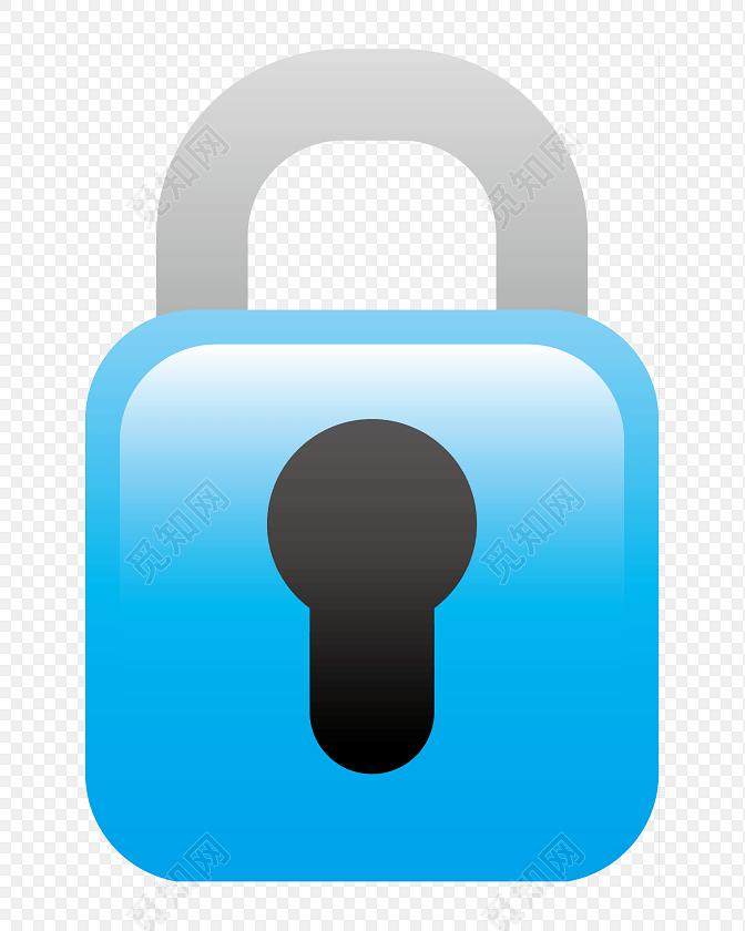 文件加密锁图标矢量图