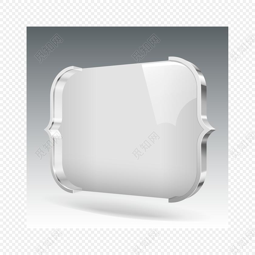 银白色金属大括号装饰素材