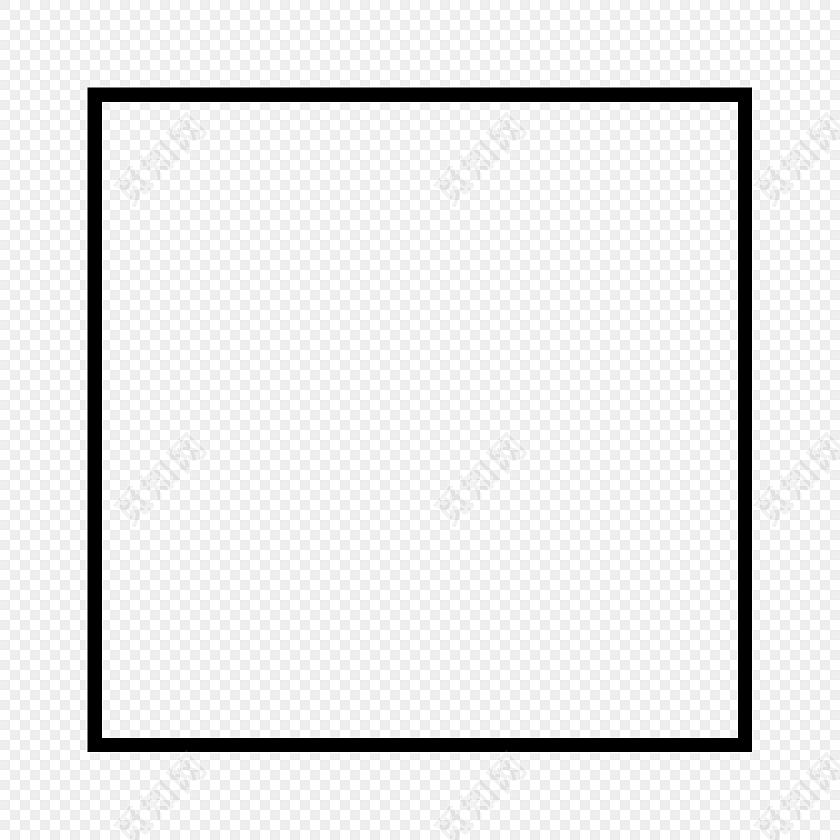 简约几何正方形图案矢量图图片