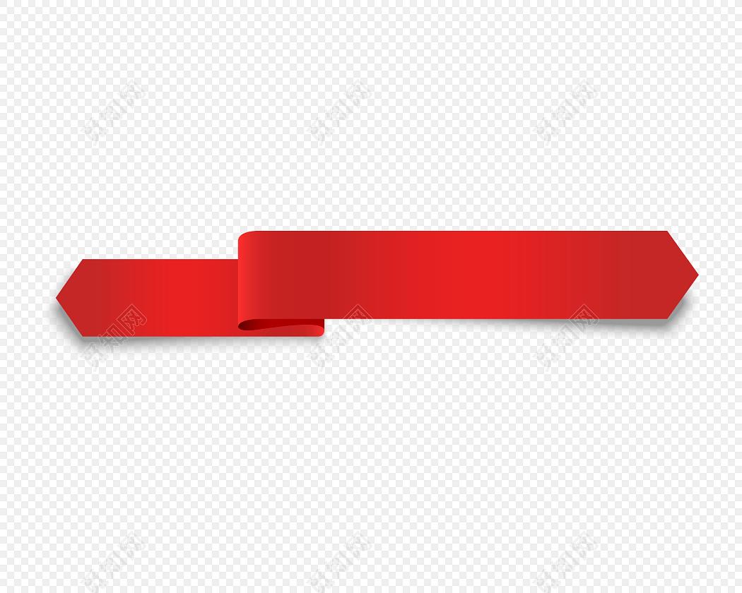 红色横向标题栏矢量图