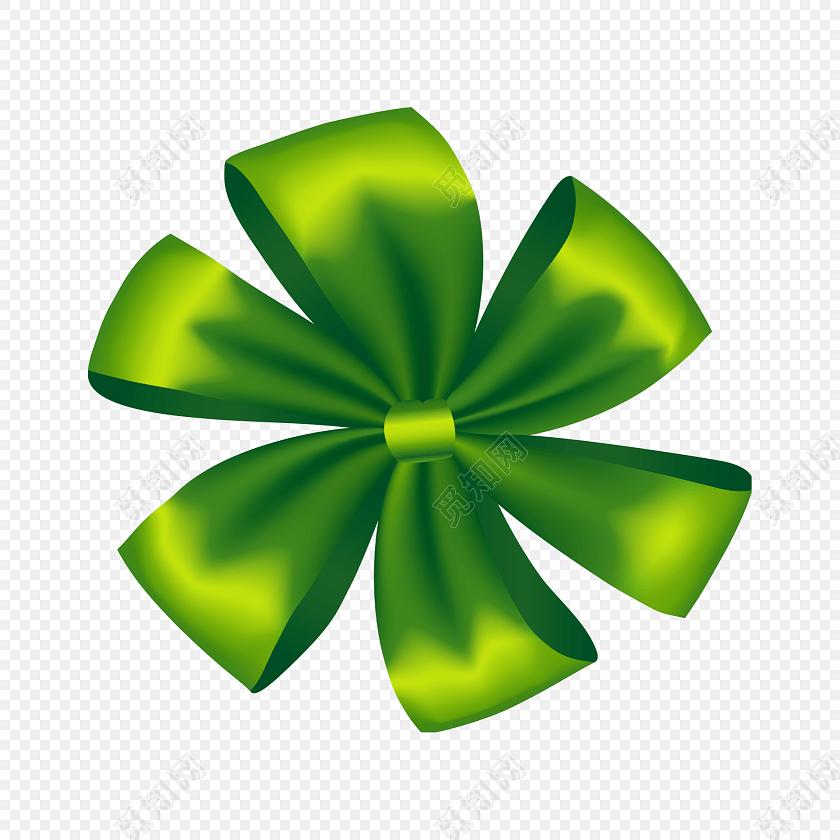 绿色拉花矢量图