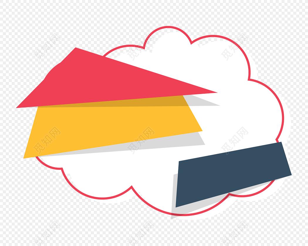 云背景彩带素材