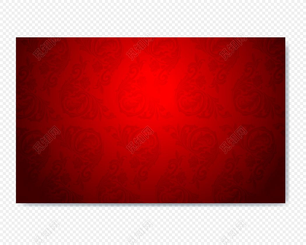 红色花纹背景装饰素材