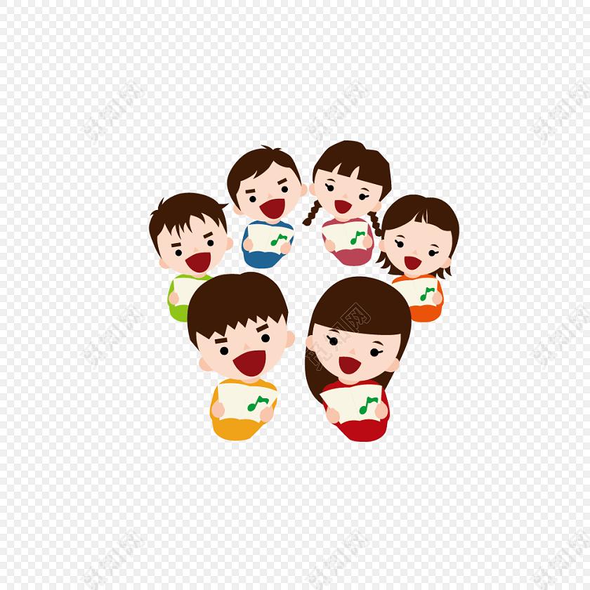 儿童合唱团海报设计素材