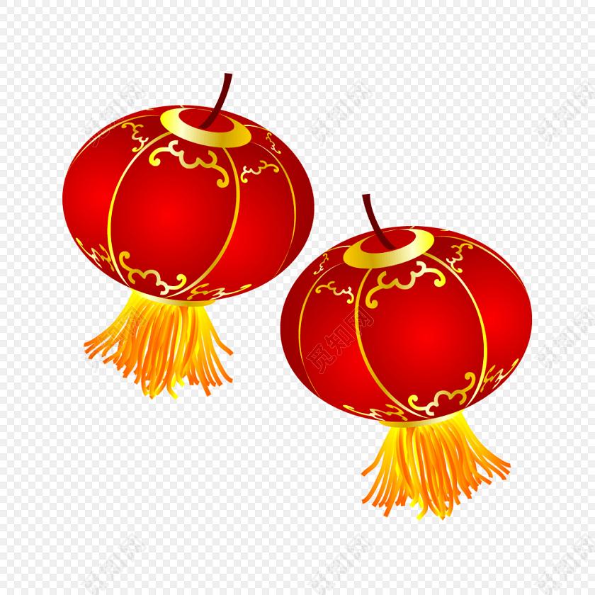 国庆节元宵红色灯笼免费下载_png素材_觅知网