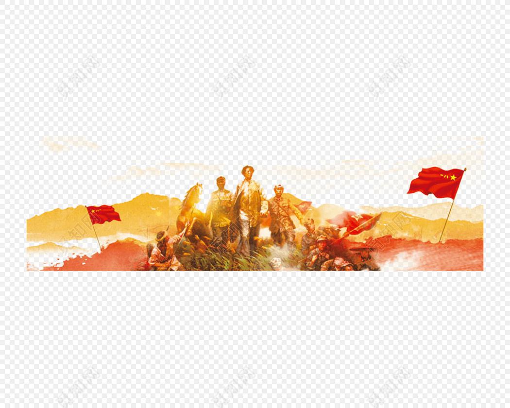 红色革命抗战胜利素材