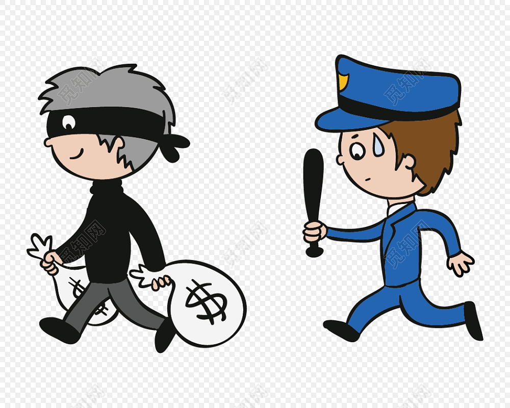 警察和小偷卡通形象图片