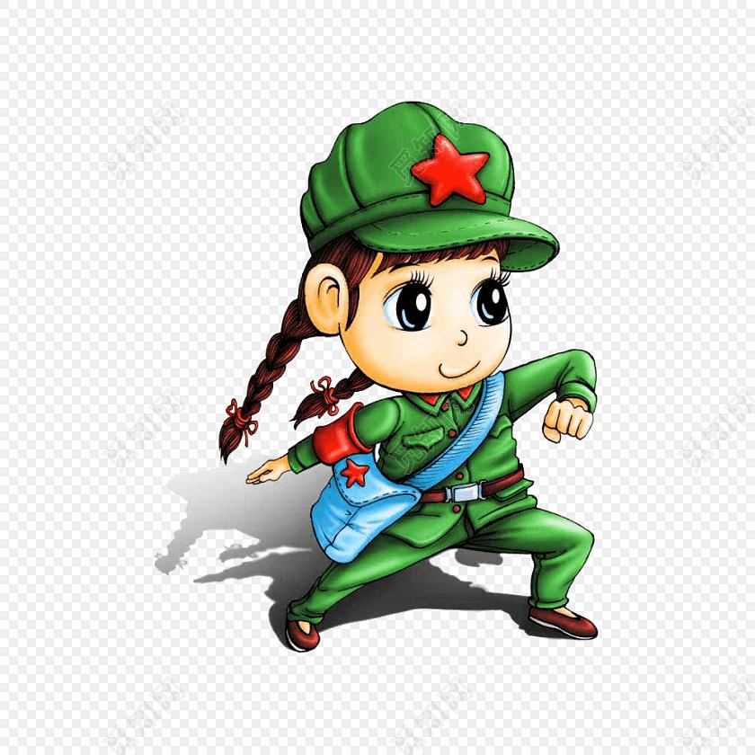 创意卡通军人形象素材矢量图片免费下载_png素材_觅