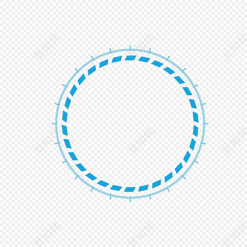 蓝色圆圈虚线边框