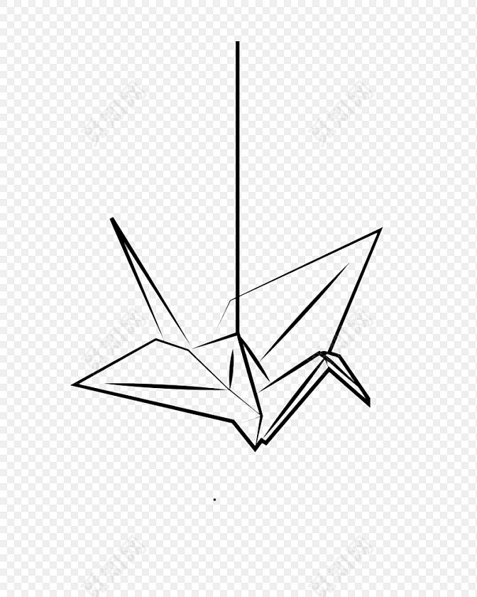手绘千纸鹤