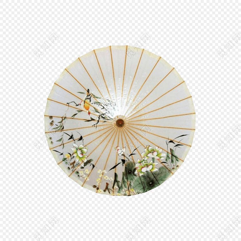 中国风水墨风格纸伞油纸伞素材