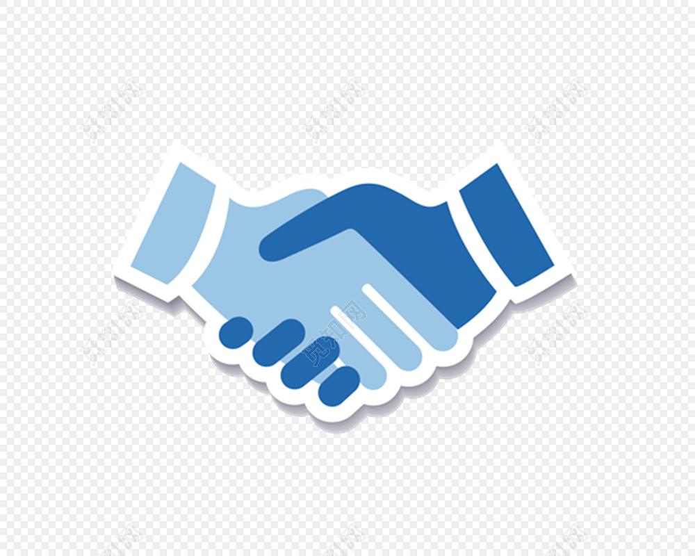 合作共赢素材握手剪影