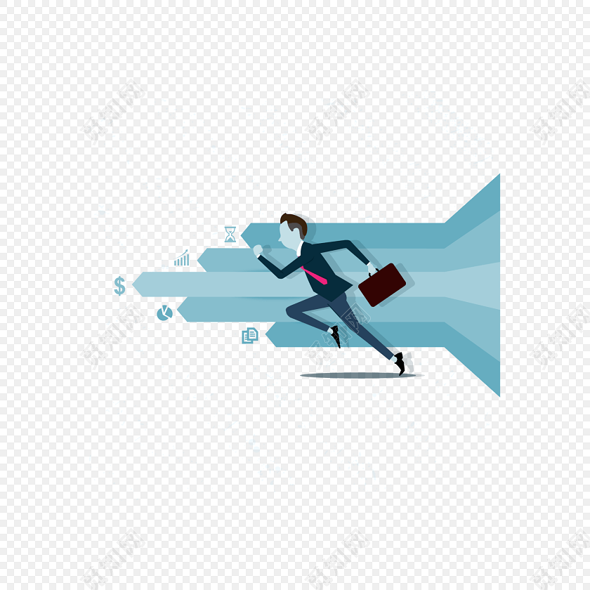 卡通商务人物素材免费下载_png素材_觅知网
