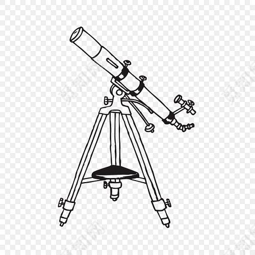 手绘望远镜素材