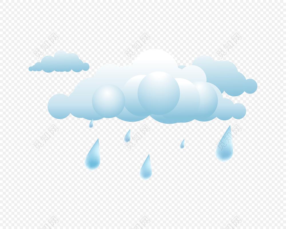 免费下载png png素材蓝色云朵雨滴矢量图素材标签:免抠素材 小清新 简