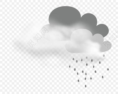乌云雨滴矢量图素材