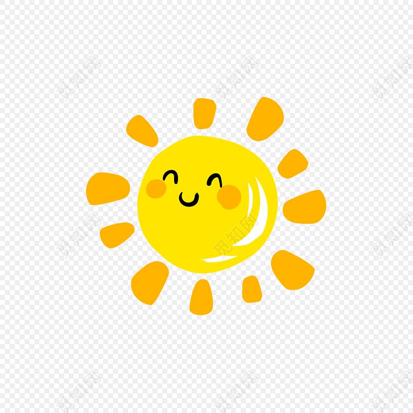 金色太阳笑脸矢量图素材