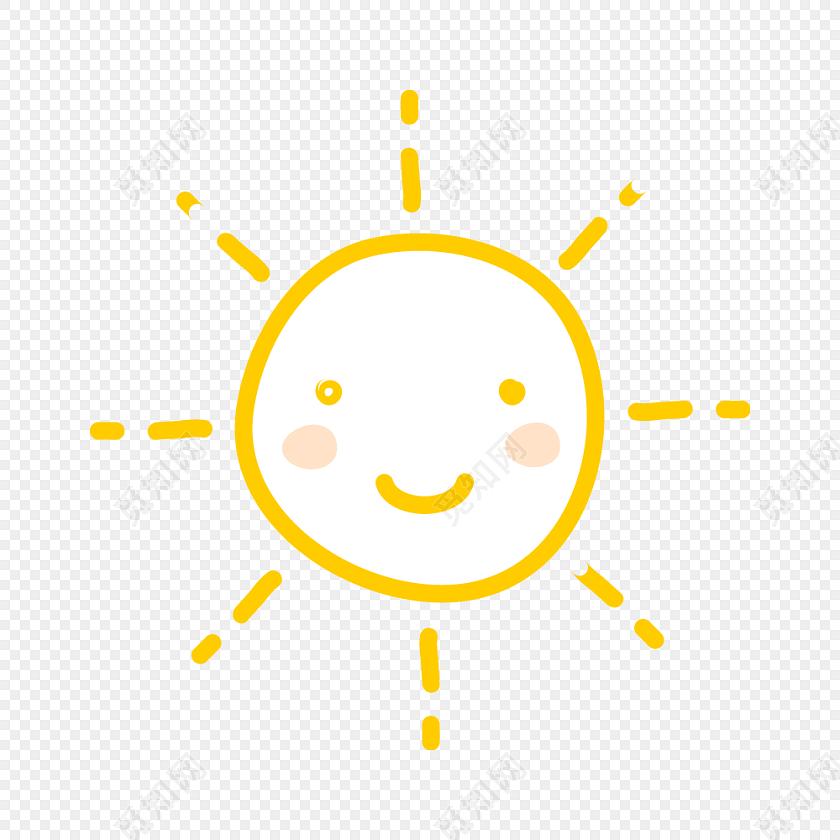 笑脸阳光太阳彩绘矢量素材图免费下载_png素材_觅知网