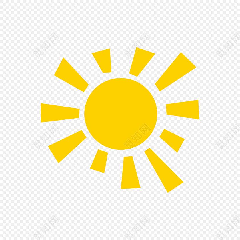 黄色阳光太阳矢量图素材
