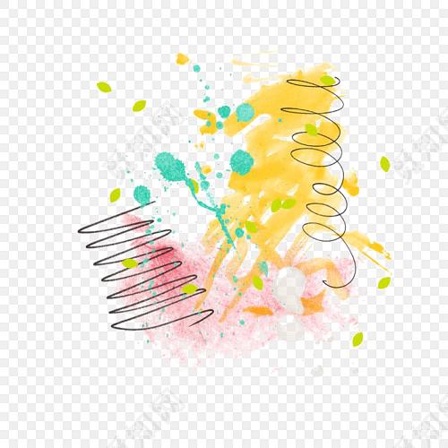 颜料涂抹痕迹矢量素材