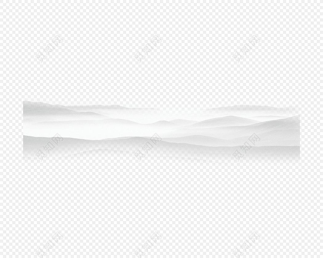 中国风简约手绘山峰素材