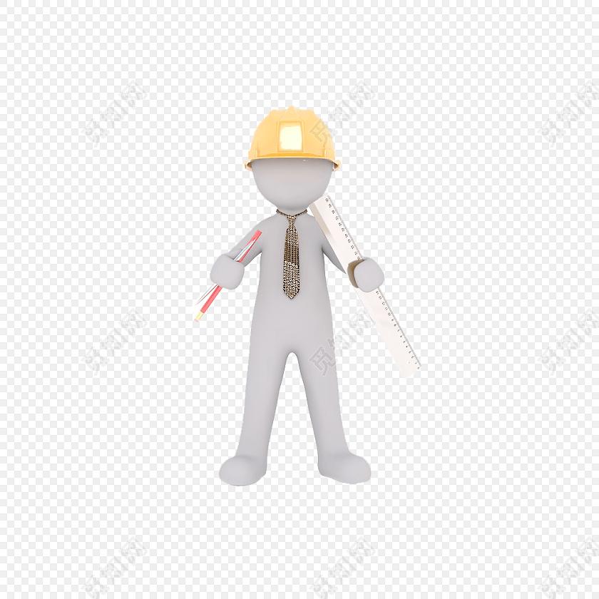 png素材工程师小人矢量素材标签:工具 免抠素材 工程师 安全帽 建筑