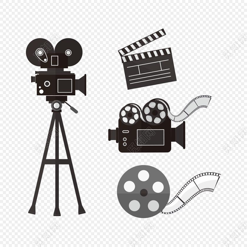 黑色电影相机胶卷免费下载_png素材_觅知网