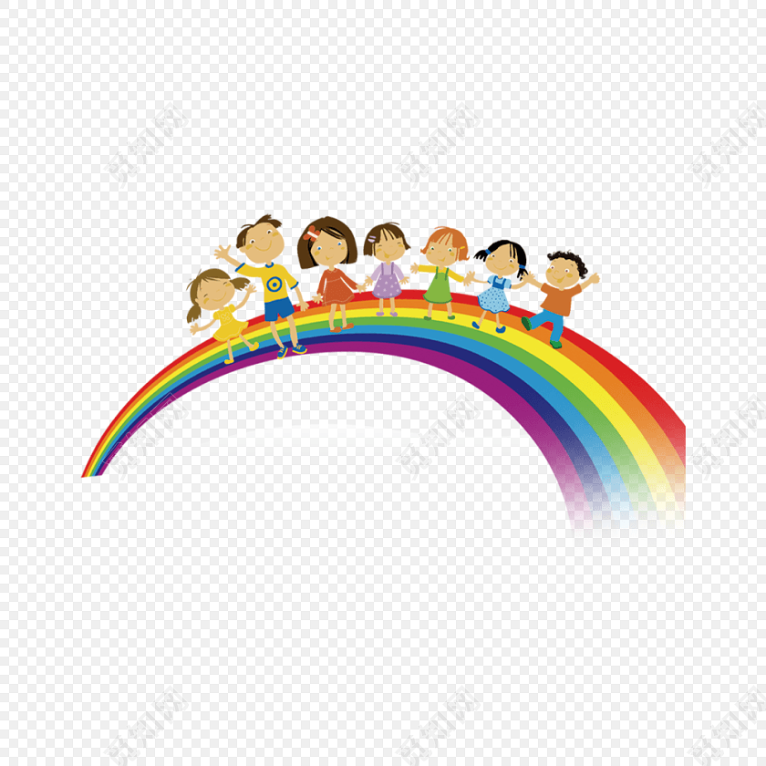 卡通彩虹桥矢量素材