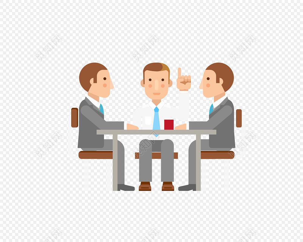办公室 会议设计ppt素材3d小人
