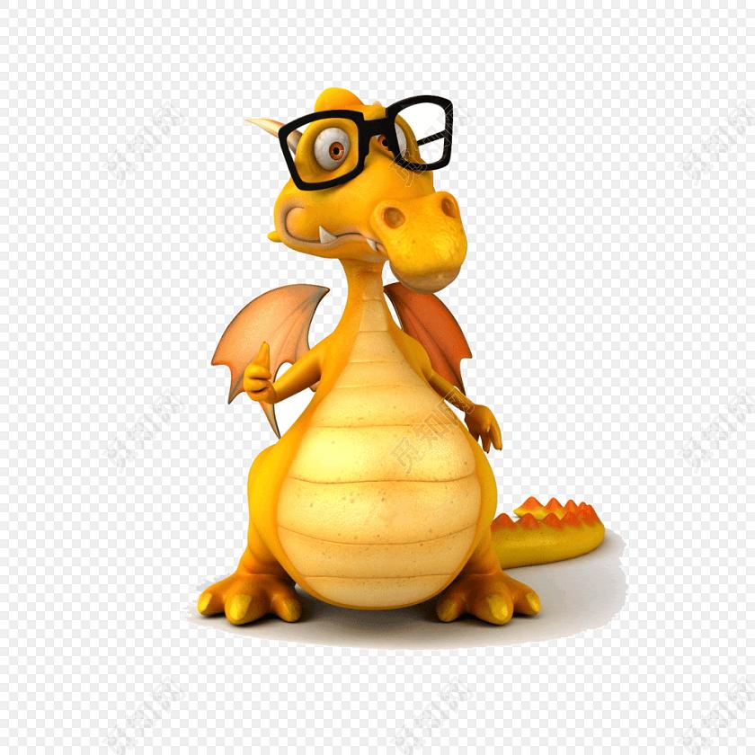 可爱恐龙卡通形象图片