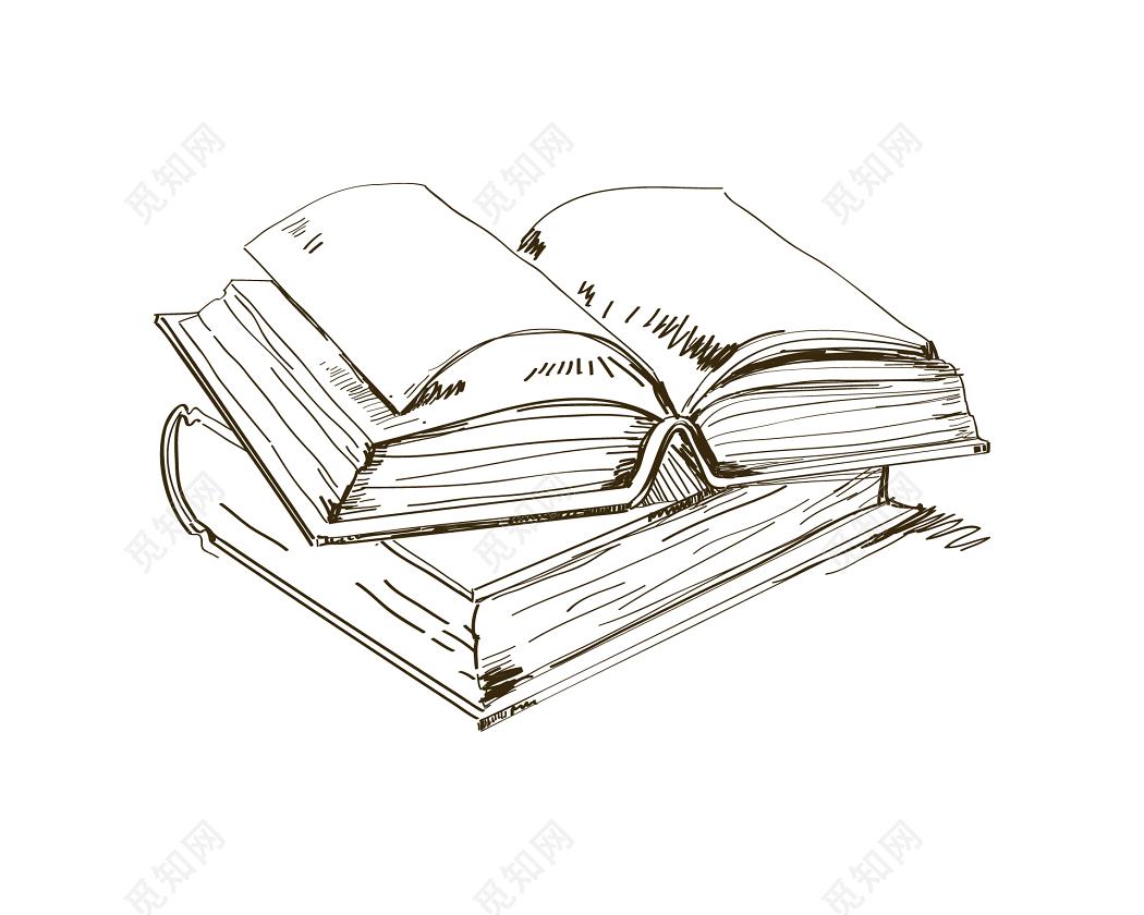 读书黑白大部头线装书书本图片素材免费下载 觅知网