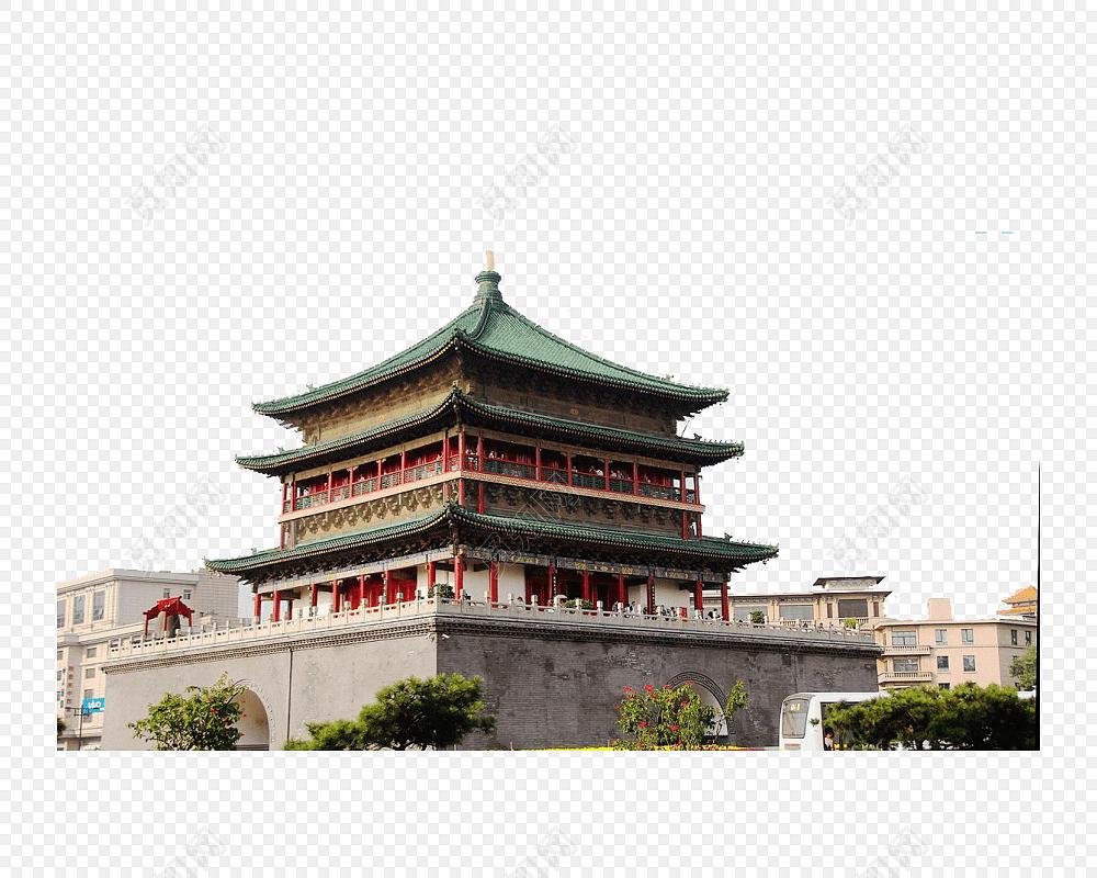 西安古迹旅游海报素材